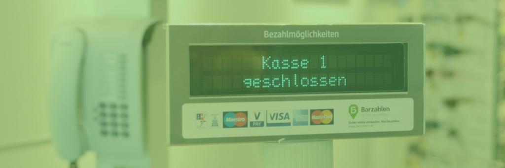 Geld abheben Supermarkt Kasse Liste
